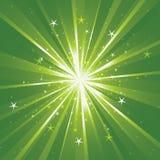 Priorità bassa con i raggi luminosi e le stelle Immagine Stock