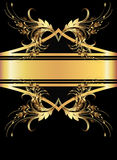 Priorità bassa con l'ornamento dorato Immagini Stock