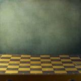 Priorità bassa con la scheda di scacchi dell'annata Fotografie Stock Libere da Diritti