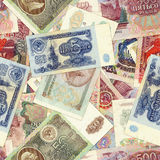 Priorità bassa dei soldi - rubli sovietiche Immagini Stock