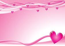 Priorità bassa del biglietto di S. Valentino Fotografia Stock