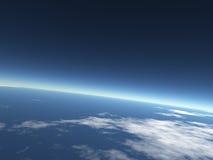 priorità bassa del cielo/terra blu Immagini Stock Libere da Diritti