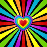 Priorità bassa del cuore del Rainbow. Immagine Stock