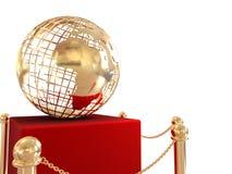 Priorità bassa del globo dell'oro Immagine Stock Libera da Diritti