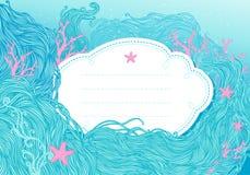 Priorità bassa del mare per il disegno Immagine Stock Libera da Diritti