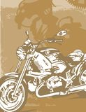 Priorità bassa del motociclo Immagine Stock