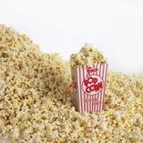 Priorità bassa del popcorn Fotografie Stock