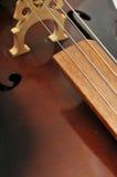Priorità bassa del primo piano del violoncello Fotografie Stock Libere da Diritti