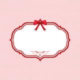 Priorità bassa del puntino di Polka di giorno dei biglietti di S. Valentino Immagine Stock Libera da Diritti