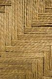 Priorità bassa del tessuto della corda dell'erba dettagliata Fotografie Stock