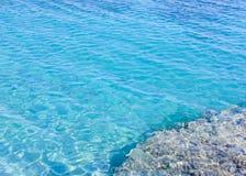 Priorità bassa dell'acqua blu Fotografie Stock Libere da Diritti