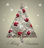 Priorità bassa dell'albero di Natale Immagine Stock