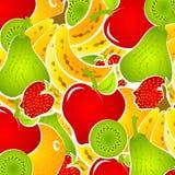 Priorità bassa dell'alimento dell'insalata di frutta Immagine Stock