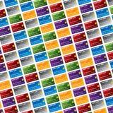 Priorità bassa della carta di credito Fotografia Stock