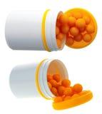 Priorità bassa della farmacia Fotografie Stock
