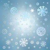 Priorità bassa della neve di natale Fotografie Stock