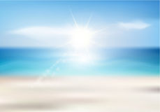 Priorità bassa della spiaggia di estate Immagini Stock Libere da Diritti