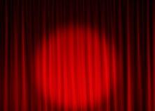 Priorità bassa della tenda del teatro Fotografia Stock