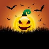 Priorità bassa della zucca di Halloween Immagini Stock Libere da Diritti