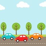 Priorità bassa delle automobili Immagini Stock