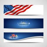 Priorità bassa delle bandiere di festa dell'indipendenza Fotografia Stock