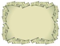 Priorità bassa delle fatture del dollaro dei soldi Fotografia Stock