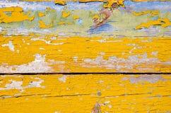 Priorità bassa delle plance di legno della parete del retro grunge della buccia Immagini Stock