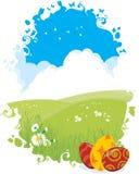 Priorità bassa delle uova di Pasqua Fotografia Stock