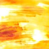 Priorità bassa dentellare ed arancione dell'acquerello Fotografia Stock