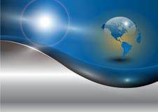 Priorità bassa di affari con il globo del mondo Fotografie Stock