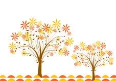 Priorità bassa di autunno dell'albero, vettore Fotografia Stock