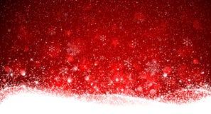 Priorità bassa di colore rosso di natale Fotografia Stock Libera da Diritti