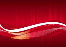 Priorità bassa di colore rosso di vettore Fotografie Stock Libere da Diritti