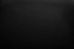 Priorità bassa di cuoio nera Fotografia Stock Libera da Diritti