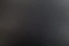 Priorità bassa di cuoio nera di struttura Fotografie Stock Libere da Diritti