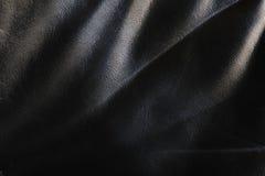 Priorità bassa di cuoio nero Fotografie Stock