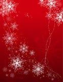 Priorità bassa di festa con i fiocchi di neve Fotografia Stock
