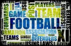 Priorità bassa di gioco del calcio Immagini Stock Libere da Diritti