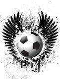 Priorità bassa di gioco del calcio di Grunge Fotografia Stock Libera da Diritti