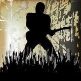 Priorità bassa di Guitarista Fotografie Stock