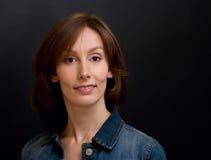Priorità bassa di oscurità della donna Fotografia Stock Libera da Diritti