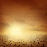 Priorità bassa di paesaggio del deserto Immagini Stock Libere da Diritti