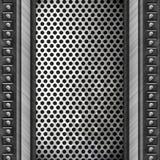 Priorità bassa di piastra metallica d'acciaio Fotografia Stock