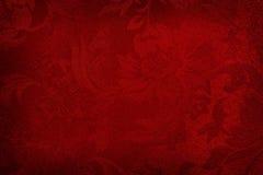 Priorità bassa di seta rossa Fotografia Stock