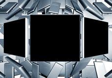 Priorità bassa di tecnologia di blocco per grafici della foto Fotografie Stock