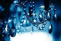 Priorità bassa di vetro blu Fotografia Stock Libera da Diritti