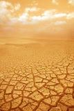 Priorità bassa Droughty del cielo e di messa a terra Immagini Stock Libere da Diritti