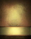 Priorità bassa elegante di colore marrone dell'oro Fotografia Stock