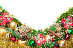 Priorità bassa festiva di natale decoration.card Fotografie Stock Libere da Diritti