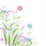 Priorità bassa floreale con la farfalla Immagini Stock Libere da Diritti
